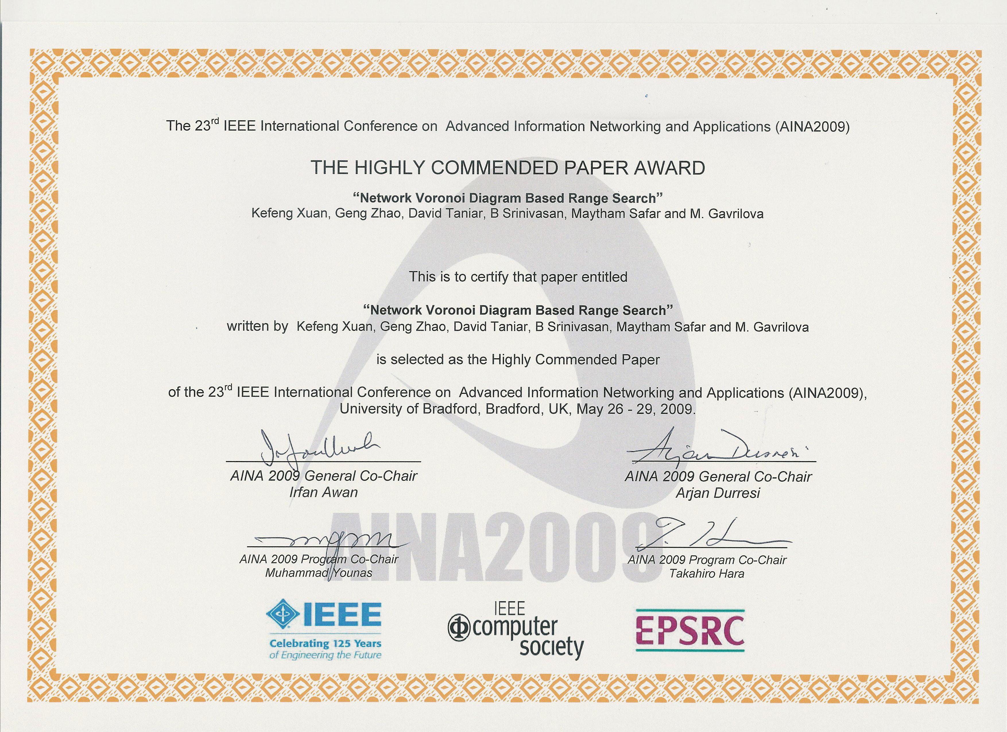 award certificate paper best design sertificate 2018