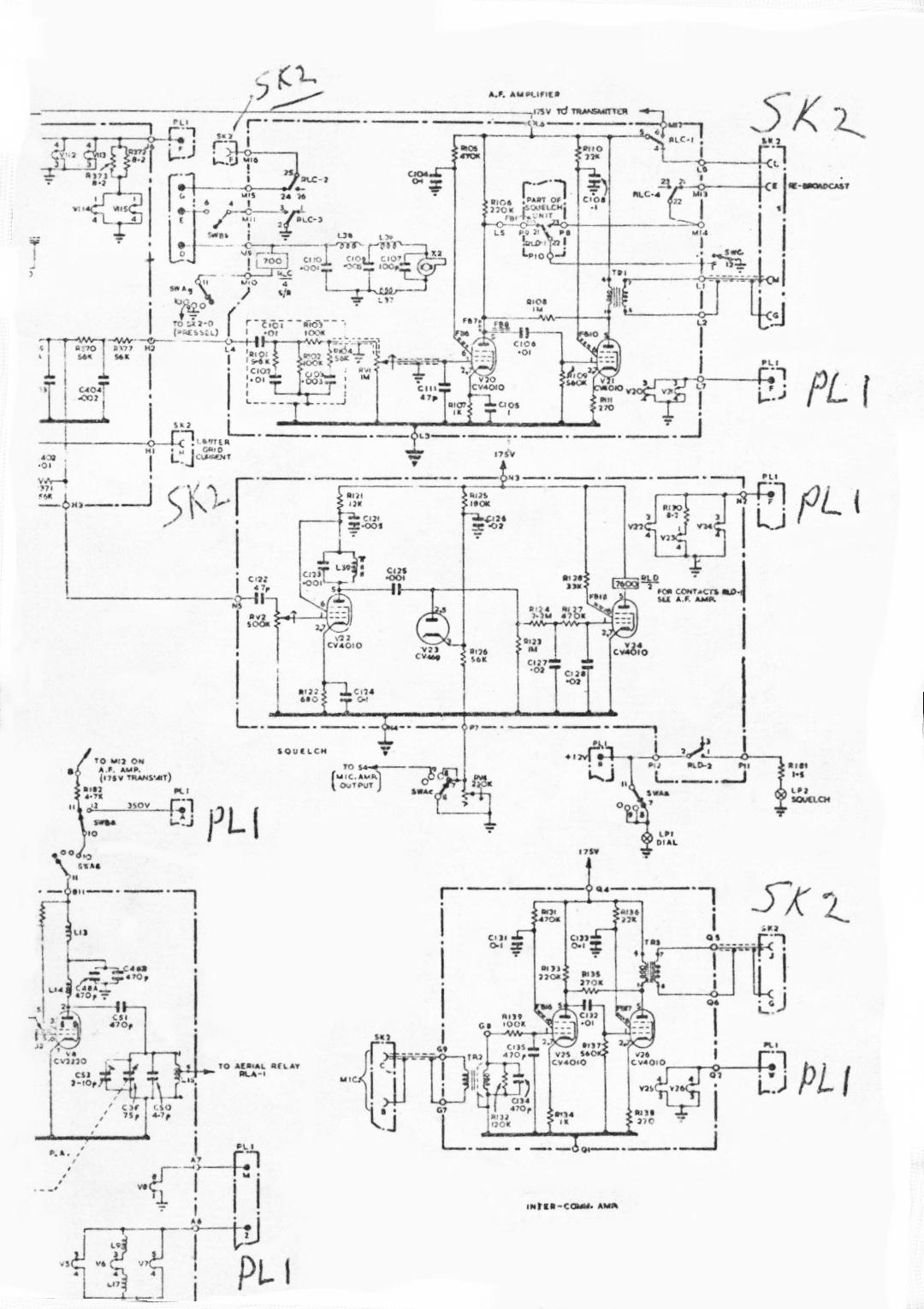 C42 Radio Receiver Circuit Diagram On Ham Am Transmitter Schematics Rhs Of Schematic