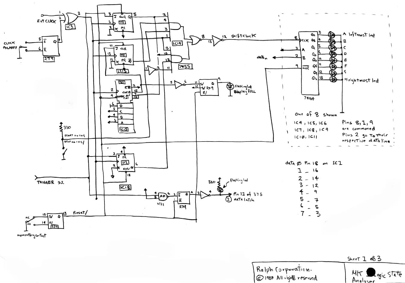 Lsa Shift Registers 74ls164 The Display Controller
